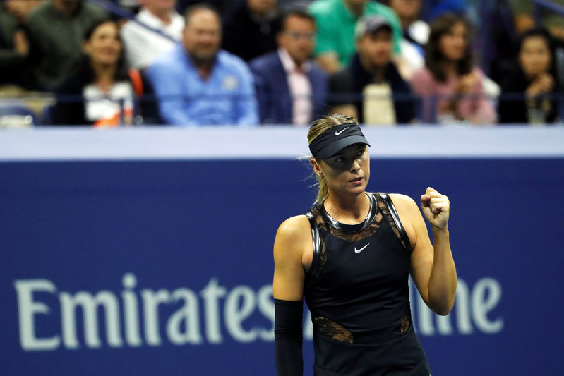2017 09 02T041358Z 1 LYNXNPED81049 RTROPTP 0 TENNIS USOPEN 1 - Sharapova battles past Kenin to reach fourth round in New York