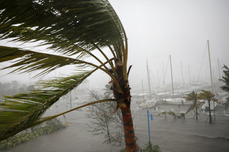 Almost  half of Florida in the dark, Tampa takes pounding