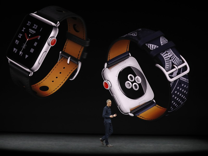 Apple's Williams speaks during a product launch event in Cupertino