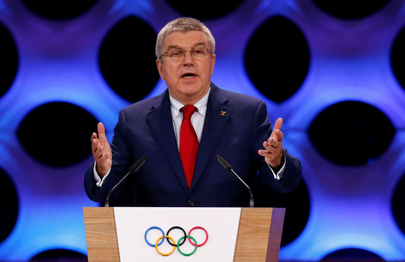 International Olympic Committee (IOC) President Thomas Bach attends the 131st IOC session in Lima