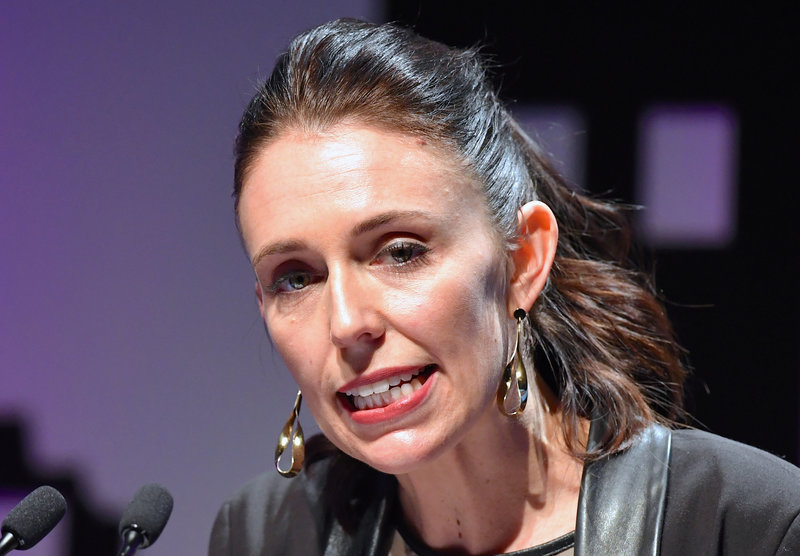 FILE PHOTO: New Zealand's new opposition Labour party leader, Jacinda Ardern, speaks during an event held ahead of the national election at the Te Papa Museum in Wellington