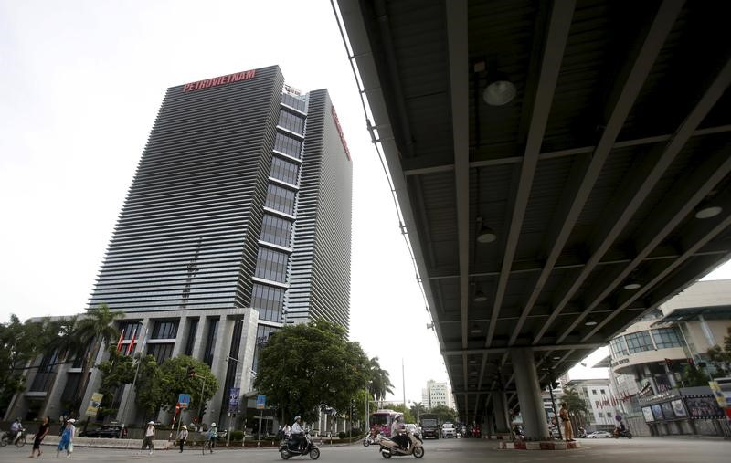 FILE PHOTO: The building of PetroVietnam headquarters is seen in Hanoi