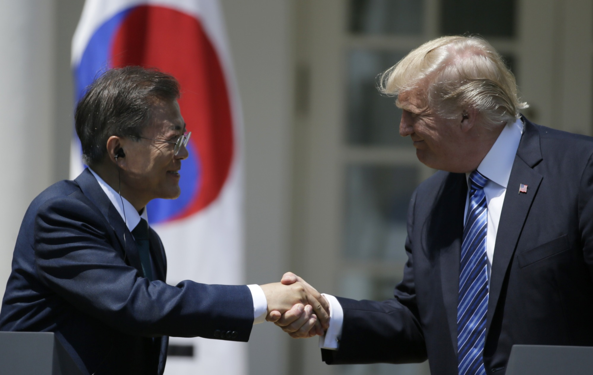 Trump's tweets include criticism of South Korea
