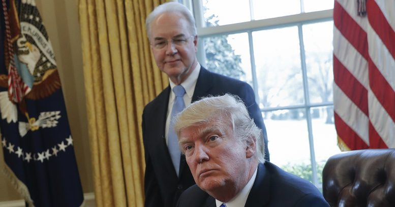 Health secretary Tom Price says he'll reimburse cost of charter flights