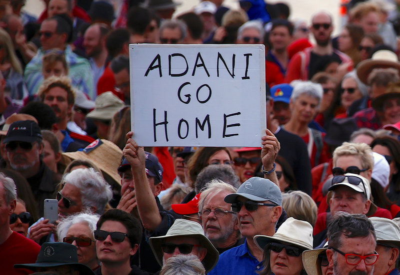 2017 10 07T034359Z 1 LYNXMPED9604C RTROPTP 0 AUSTRALIA ADANI PROTEST 1 - Thousands protest across Australia against giant Adani coal mine