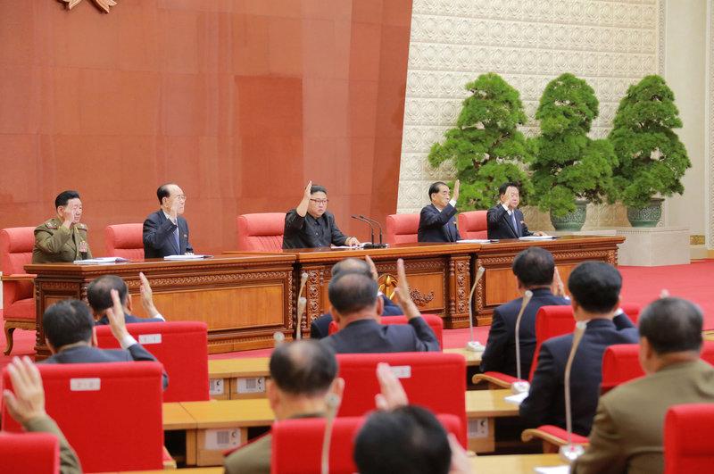 2017 10 08T093752Z 3 LYNXMPED9704K RTROPTP 0 NORTHKOREA POLITICS 1 - Kim Jong Un praises nuclear program, promotes sister to center of power