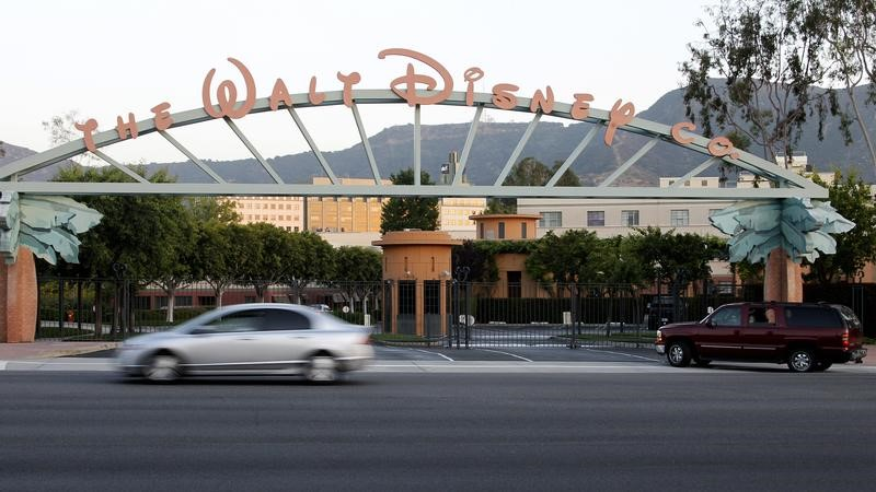 The signage at the main gate of The Walt Disney Co.