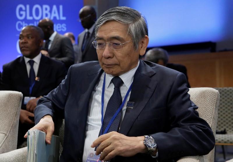 Governor of the Bank of Japan Haruhiko Kuroda attends IMFC plenary