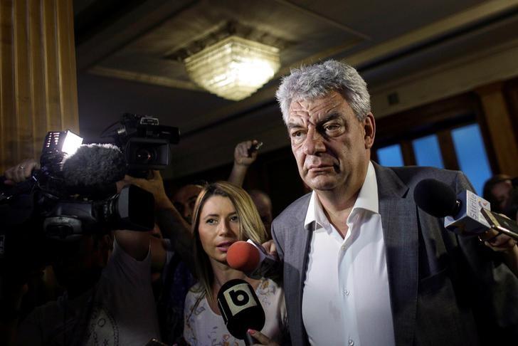 FILE PHOTO - Mihai Tudose talks with media in Bucharest, Romania