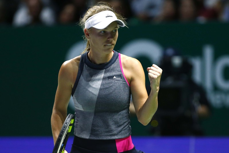 Wozniacki claims trophy at WTA Finals