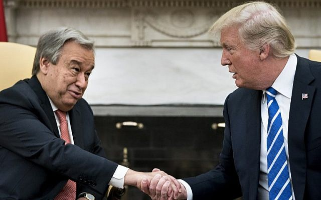 Pres. Trump Meets With UN Secretary General Antonio Guterres