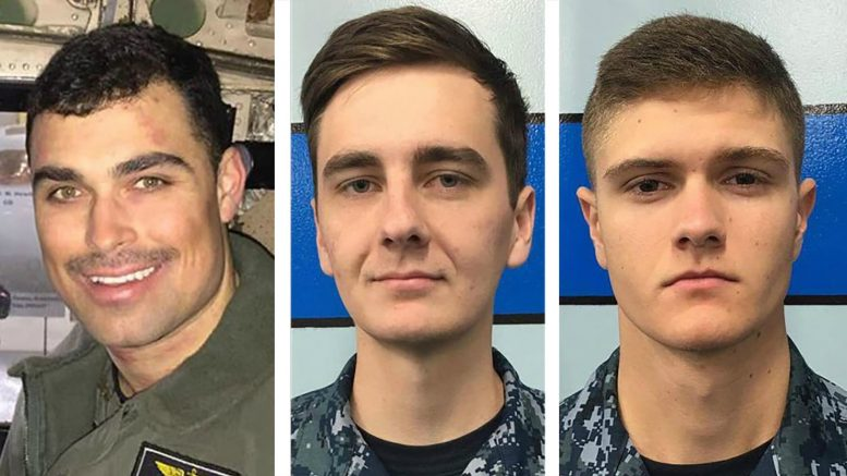 Missing trio after transport plane crash identified by US Navy