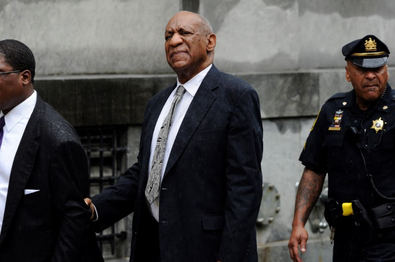 Actor and comedian Bill Cosby departs after a judge declared a mistrial in his sexual assault trial at the Montgomery County Courthouse in Norristown, Pennsylvania