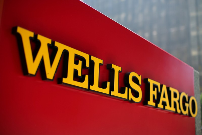 FILE PHOTO: A Wells Fargo bank sign is pictured in downtown Los Angeles