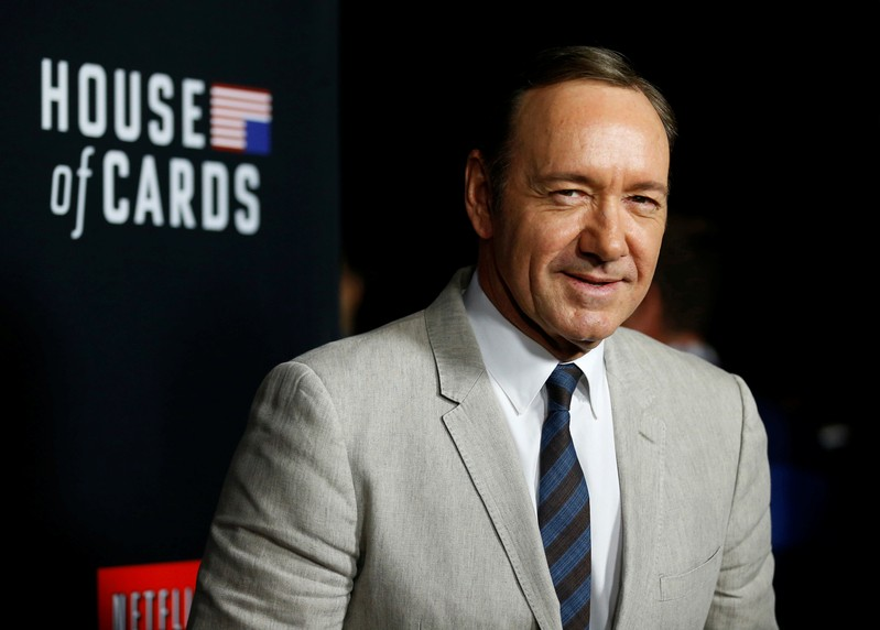 FILE PHOTO: Cast member Spacey poses at the premiere for the second season of the television series
