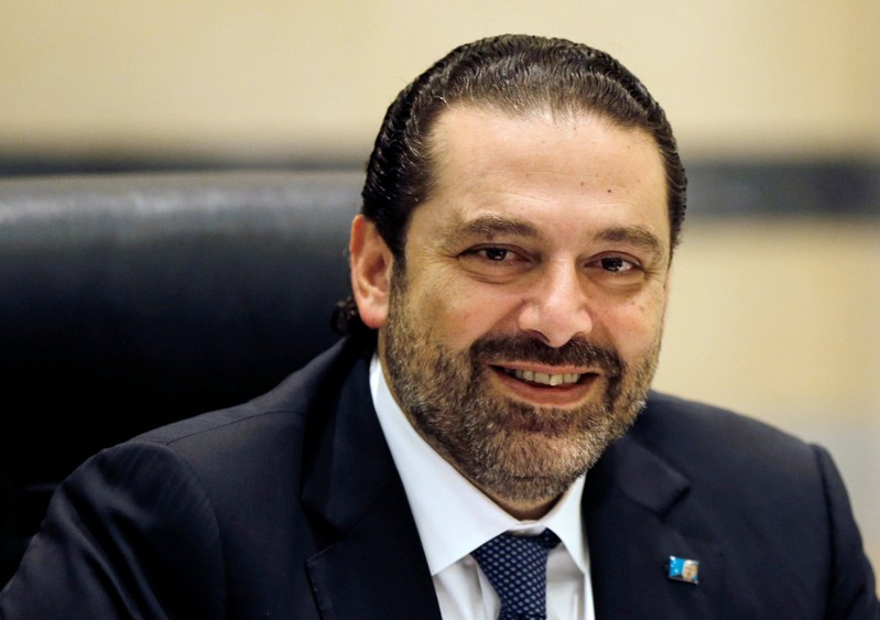 FILE PHOTO - Lebanon's Prime Minister Saad al-Hariri presides a cabinet meeting at the governmental palace in Beirut