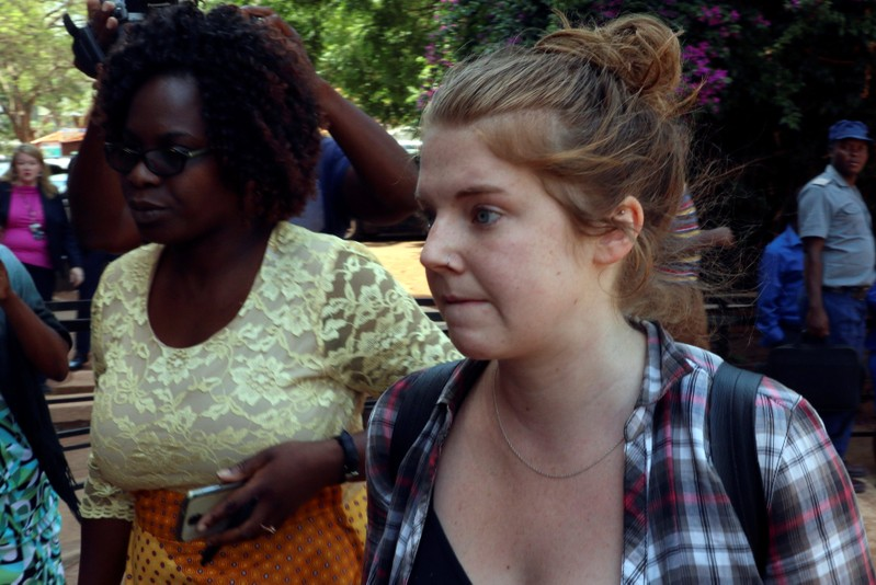 U.S. citizen Martha O'Donovan arrives at court in Harare
