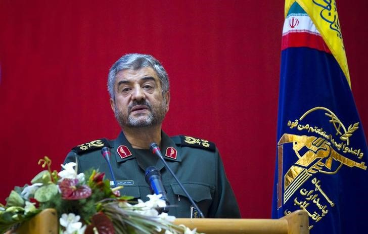 FILE PHOTO - Iran's Revolutionary guards commander Mohammad Ali Jafari speaks during a conference to mark the martyrs of terrorism in Tehran