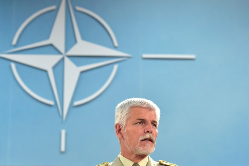 General Pavel, Chairman of the CMC, looks on during a NATO defence ministers meeting in Brussels