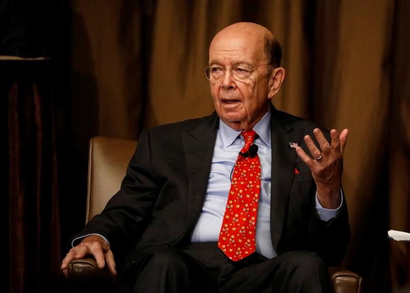 Commerce Secretary Wilbur Ross speaks to the Economic Club of New York in New York
