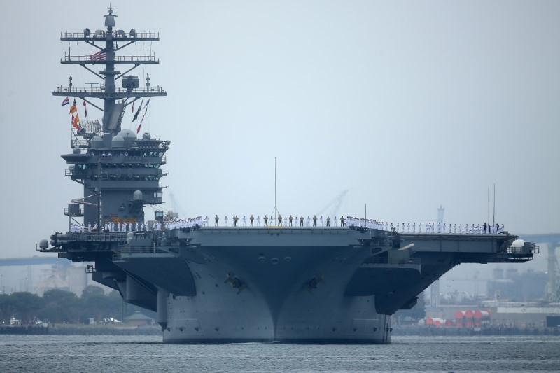 Aircraft carrier USS Nimitz departs San Diego with Carrier Strike Group 11 and some 7,500 sailors and airmen for a 6 month deployment in the Western Pacific