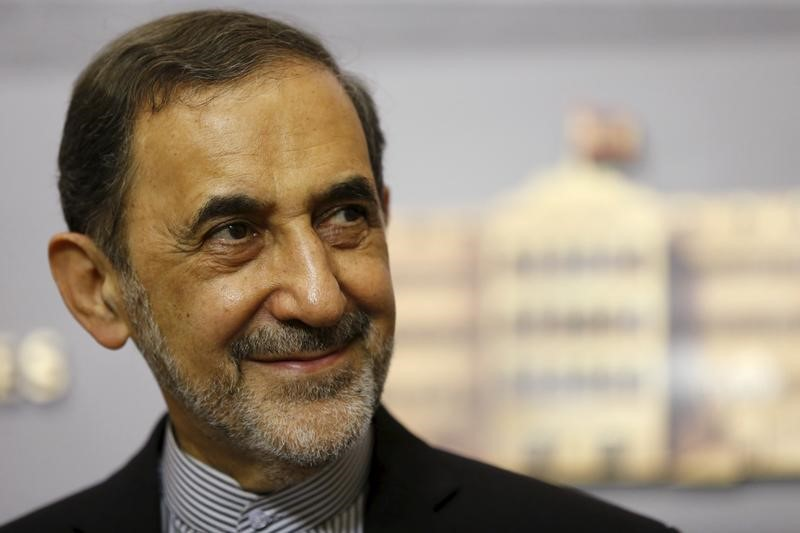 Ali Akbar Velayati smiles as he listens to questions from the media during a news conference in Beirut