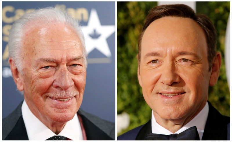 Actors Chris Plummer and Kevin Spacey in a combination photograph.