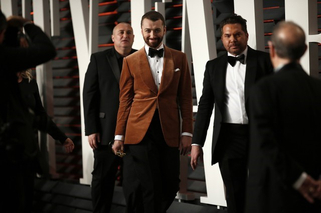 FILE PHOTO: Singer Sam Smith arrives at the Vanity Fair Oscar Party in Beverly Hills