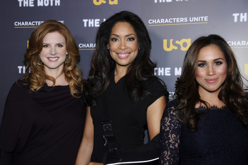 Actresses Rafferty, Torres and Markle attend the USA Network and The Moth's Characters Unite Event in West Hollywood