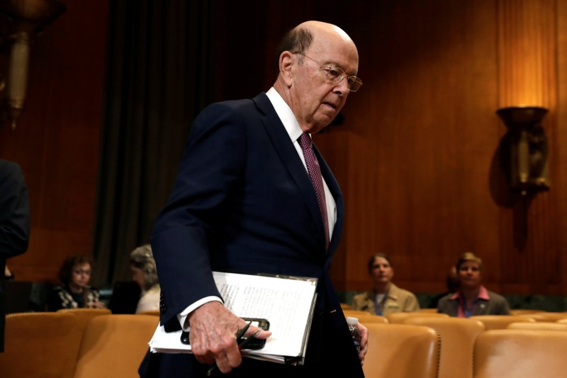 FILE PHOTO: Commerce Secretary Wilbur Ross testifies before a Senate Commerce, Justice, Science and Related Agencies Subcommittee in Washington