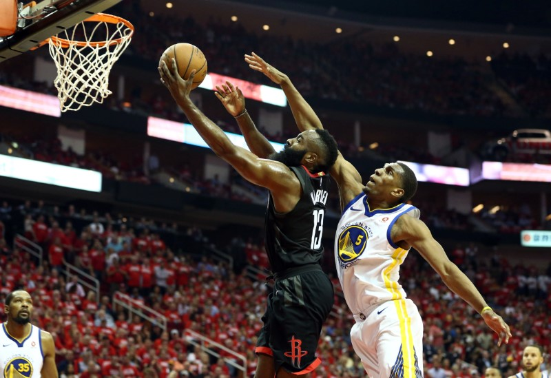 Chris Paul of Houston Rockets exits with hamstring injury