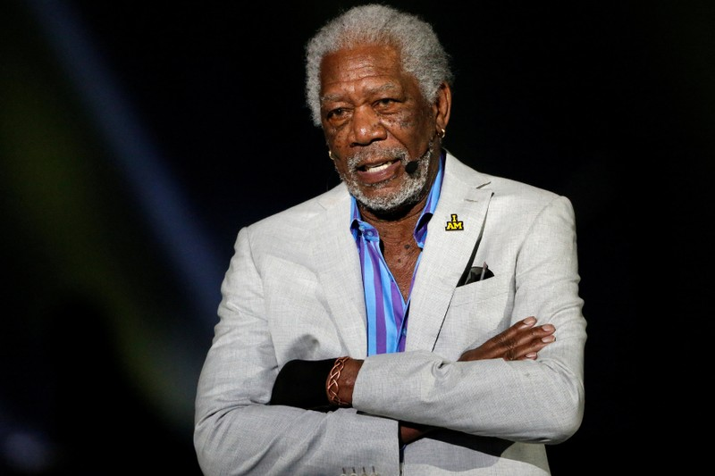 FILE PHOTO: Actor Morgan Freeman takes part in the opening ceremonies of the Invictus Games in Orlando, Florida