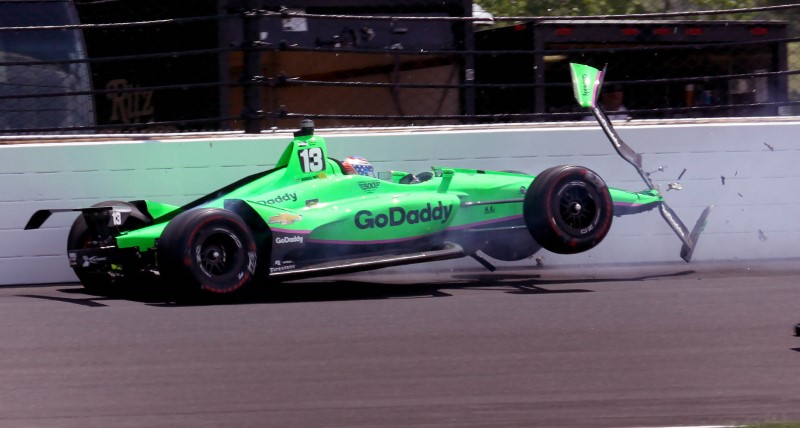Indianapolis 500: Danica Patrick crashes out in final race of her career