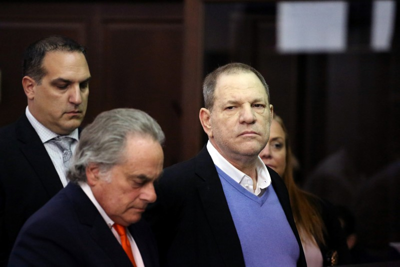 Film producer Harvey Weinstein during his arraignment in Manhattan Criminal Court in New York