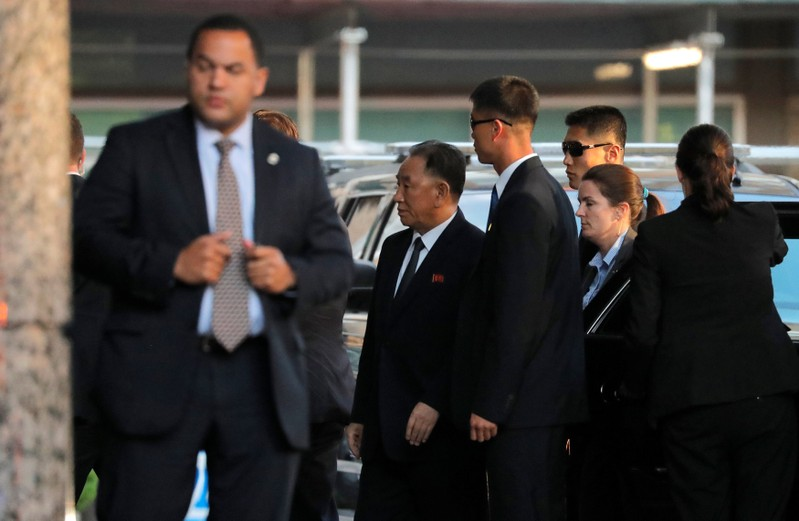 North Korean envoy Kim Yong Choi arrives for a meeting with U.S. Secretary of State Mike Pompeo in New York