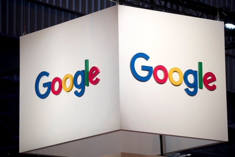 FILE PHOTO: The logo of Google is pictured during the Viva Tech start-up and technology summit in Paris