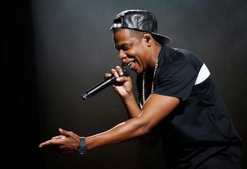 FILE PHOTO: Jay-Z performs at Bercy stadium in Paris