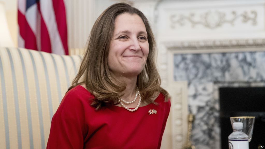 Canada's Freeland vows to defend workers against USA metals tariffs
