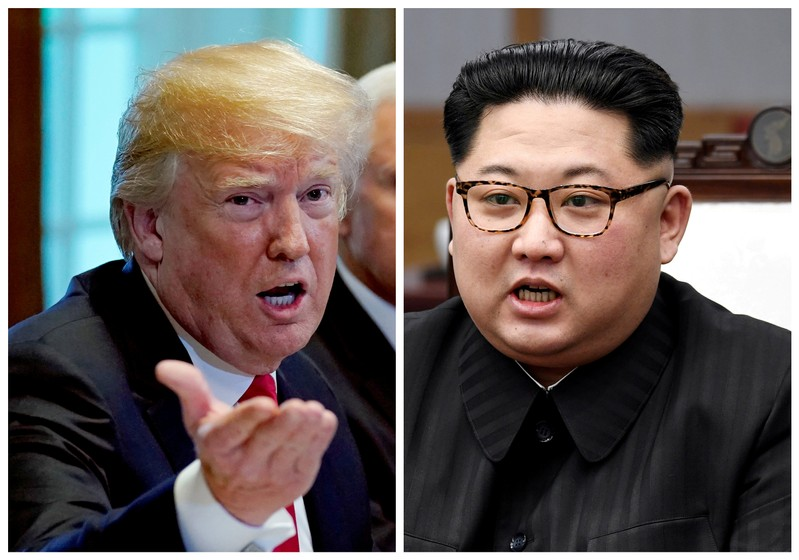 FILE PHOTO: A combination photo shows U.S.  President Trump and North Korean leader Kim Jong Un