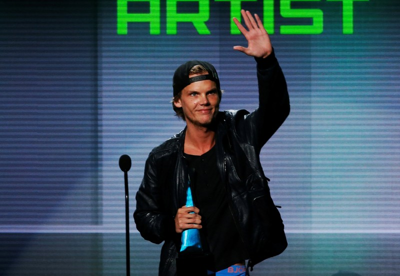 FILE PHOTO: Avicii accepts the favorite electronic dance music artist award at the 41st American Music Awards in Los Angeles
