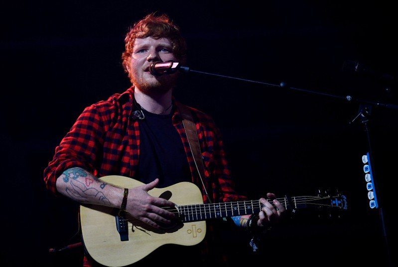 FILE PHOTO: Ed Sheeran performs at the Glastonbury Festival