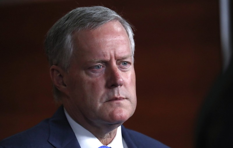 FILE PHOTO: Rep. Meadows attends a Republican news conference requesting the appointment of a second special counsel to investigate the 2016 U.S. presidential campaign at the U.S. Capitol in Washington