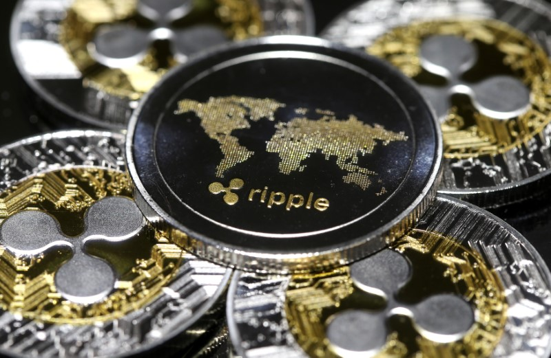 Representation of the Ripple virtual currency is seen in this illustration picture