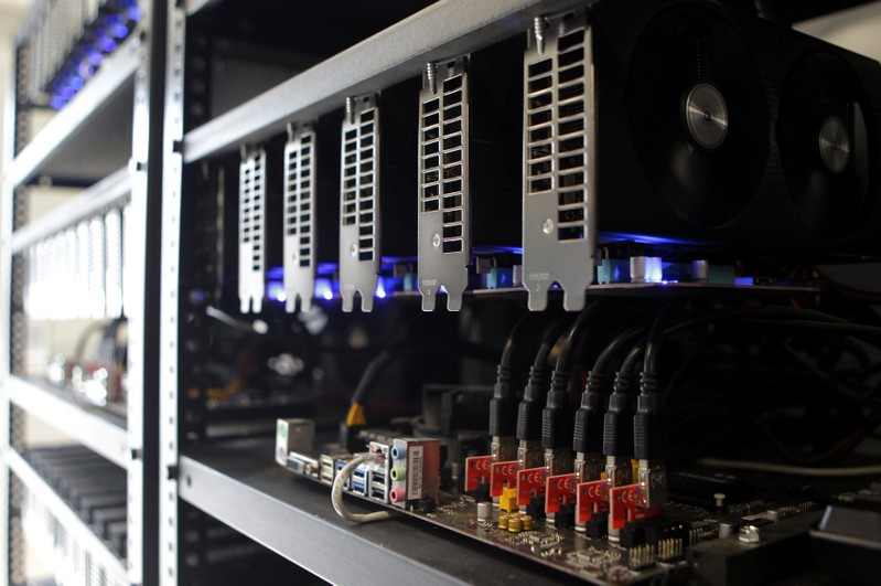 Cryptocurrency mining facilities are seen in Pristina