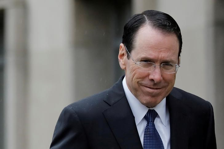 FILE PHOTO: Chief Executive Officer of AT&T  Stephenson arrives at a U.S. District Court in Washington