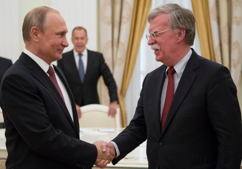 Trump adviser Bolton will meet Putin at the Kremlin Wednesday