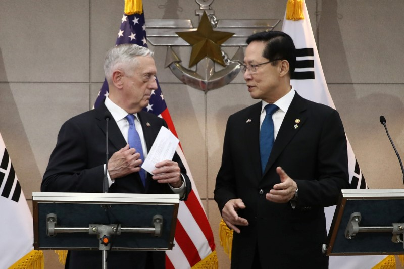 U.S. Secretary of Defense James Mattis Visits South Korea