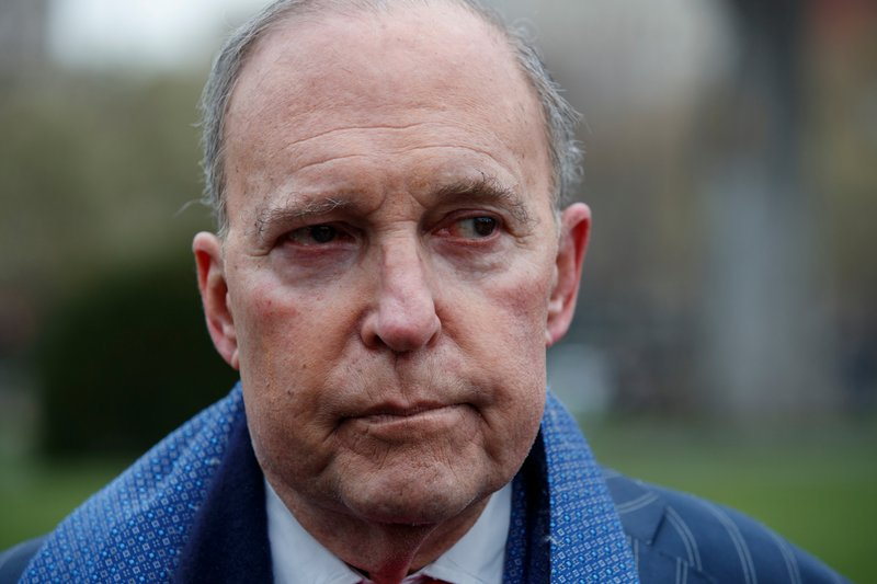 President Trump tweets economic adviser Larry Kudlow hospitalized after heart attack class=