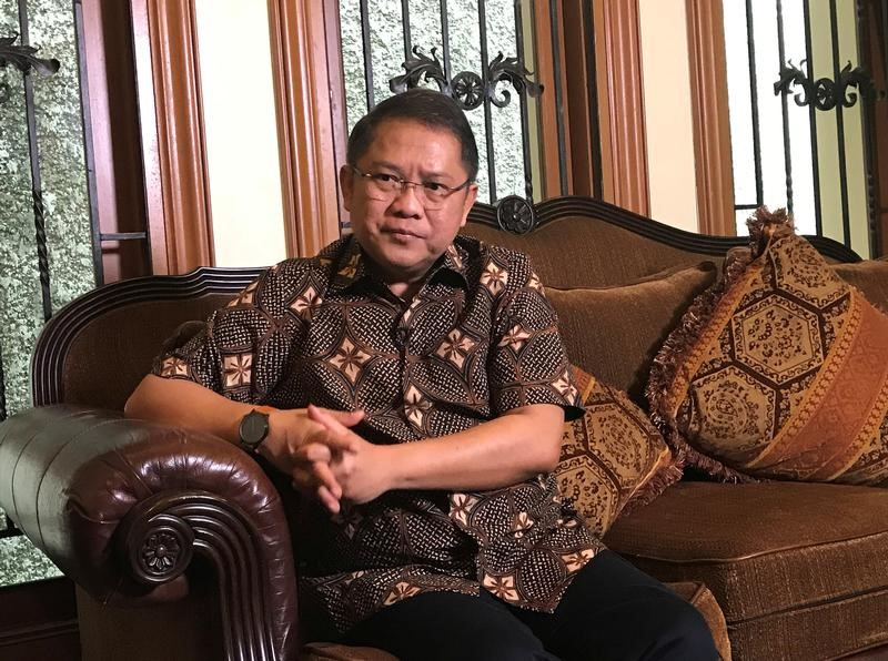 FILE PHOTO -  Indonesia's Minister of Communication and Information Rudiantara is seen during an interview with Reuters at his home in Jakarta