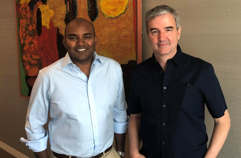 Jambu Palaniappan and Steve Crossan who have both just been employed by Atomico, which runs Europe's largest independent venture fund, are seen here at Atomico's offices in London